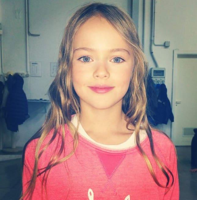 Kristina Pimenova, 9, på bild från hennes Instagram som följs av ...