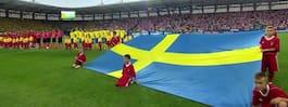 JUST NU: Svenskarna tar över arenan i Polen