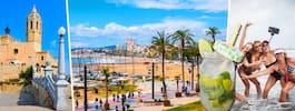 Sitges – Barcelonas charmiga lillasyster