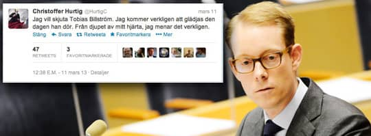 Tobias Billström, migrationsminister. Foto: Henrik Montgomery / Scanpix
