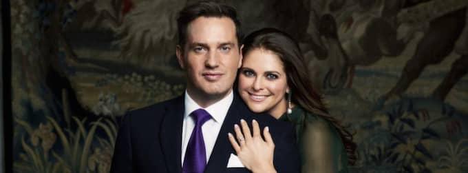 Nyförlovade paret Hcris O'Neill och prinsessan Madeleine. Foto: Ewa-Marie Rundquist/Kungahuset.se