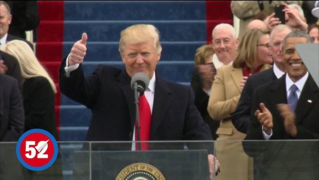 Här blir Trump president - det bästa från insvärningen på 60 sekunder