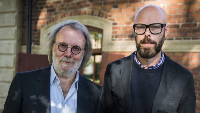 Benny Andersson tillsammans med Expressens Anders Nunstedt.