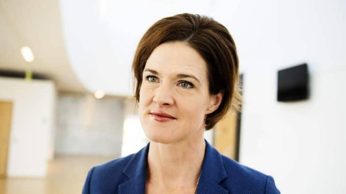 Anna Kinberg Batras Moderaterna vill låsa fast regeringen vid budgetsamarbetet med V. Foto: Anna-Karin Nilsson