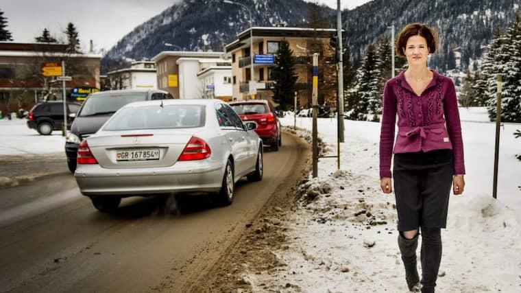 """Alliansens valförlust är analyserad och nycklarna till en ljus framtid sägs vara hittade. """"Det är bra att diskussionen kommit i gång"""", säger M-ledaren Anna Kinberg Batra när Expressen träffar henne i Davos. Foto: Jens L'Estrade"""