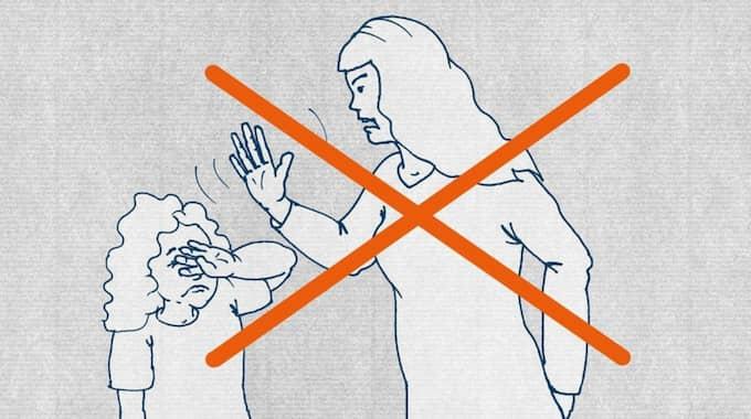 """""""Man ska inte slå sina egna eller andra föräldrars barn. Det är olagligt i Tyskland."""" Foto: SKÄRMDUMP"""