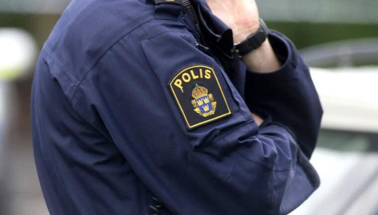 Polisen har gripit misstänkta rånare. Foto: Ludvig Thunman