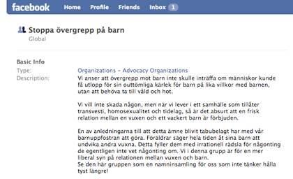 Nästan 90 000 svenskar, bland dem många politiker, hängs ut som medlemmar i en pedofilgrupp på Facebook.