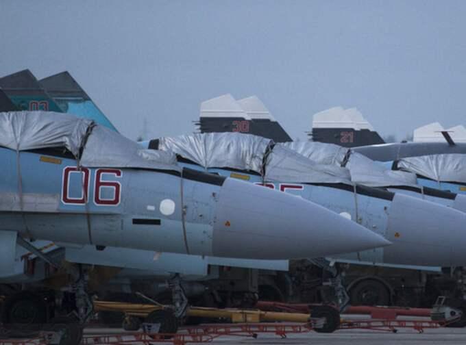 Ryska stridsflyg i Syrien. Foto: Alexei Nikolsky/AP/TT