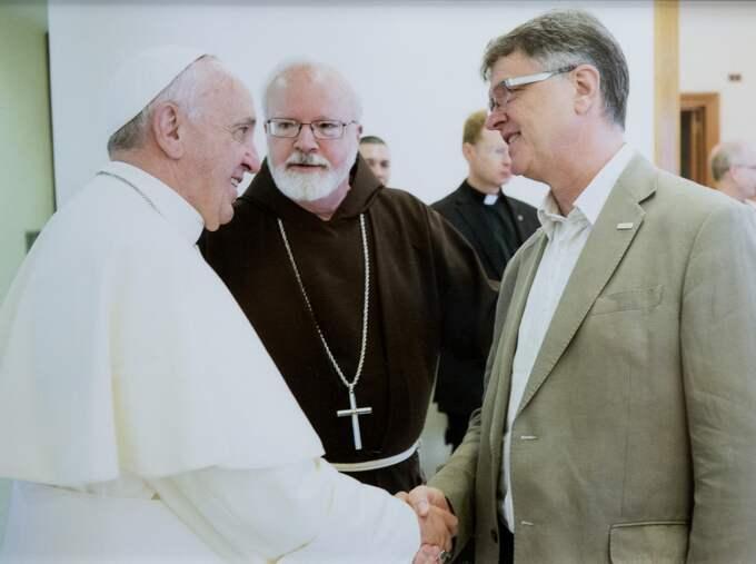 Londonbon Peter Saunders, som själv utsattes för övergrepp av två präster som ung, ingår i en påvlig kommission som ska förebygga att barn far illa i den katolska kyrkan. Foto: Privat