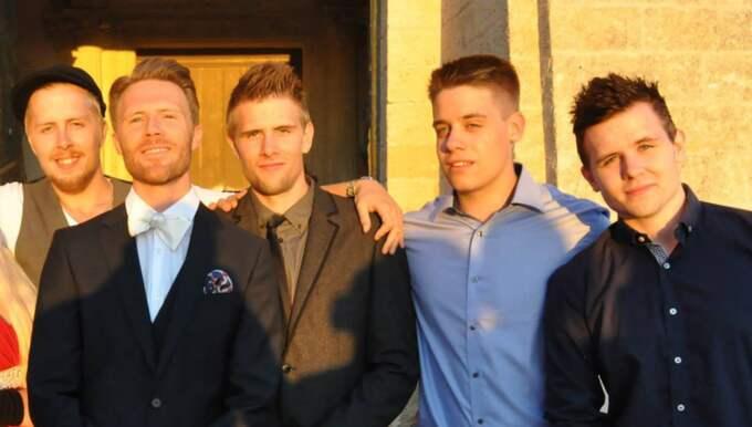 Bröderna Jimmy, Daniel, Christoffer, Gustav och Robin. Foto: Privat