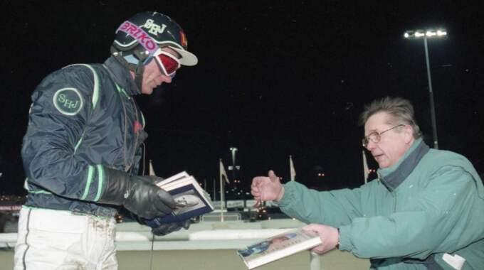 När det var publik... Stig H Johansson tävlade om lika mycket pengar i lopp på Solvalla 1996 som i flera lopp nu 2016. Foto: stalltz.se