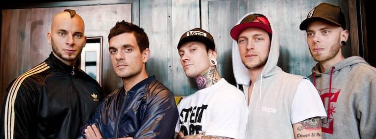 NYTT ALBUM. Jimmie Strimell, i mitten, och de övriga medlemmarna i Dead By April har precis kommit ut med ett album. På lördag spelar de i Göteborg. Foto: Veronika Ljung-Nielsen