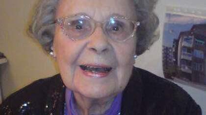 """Birgit Rosengren uppmärksammades återigen när hon 92 år gammal intervjuades i SVT:s program """"Det goda samtalet"""". Foto: Privat"""