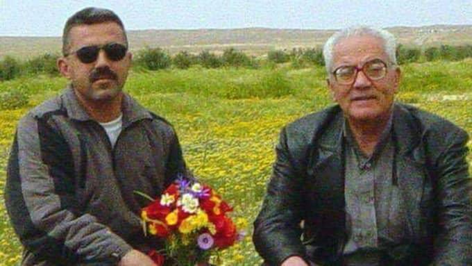 Khaled al-Asaad (right) with his son Walid al-Asaad.