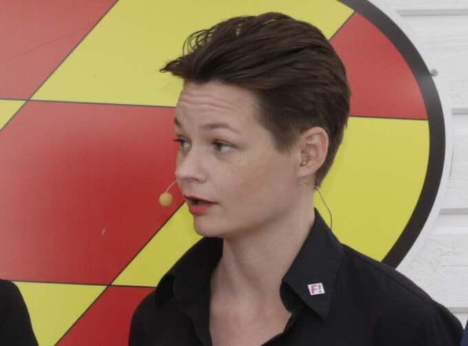 Veronica Svärd, Feministiskt initiativs försvarspolitiska skuggutskott. Foto: Cornelia Nordström