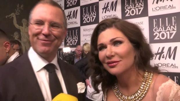 Anders Borg och Dominika Peczynski på Elle-galan