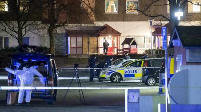 Fem skyttar ska ha omringat offret när han klev ur sin bil Foto: Johan Nilsson / TT