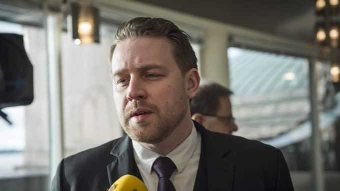 SD:s gruppledare Mattias Karlsson svarar till Expressn att han har haft en god arbetsrelation men han har svårt att förstå kritiken om bristande interndemokrati. Foto: Mikael Sjöberg