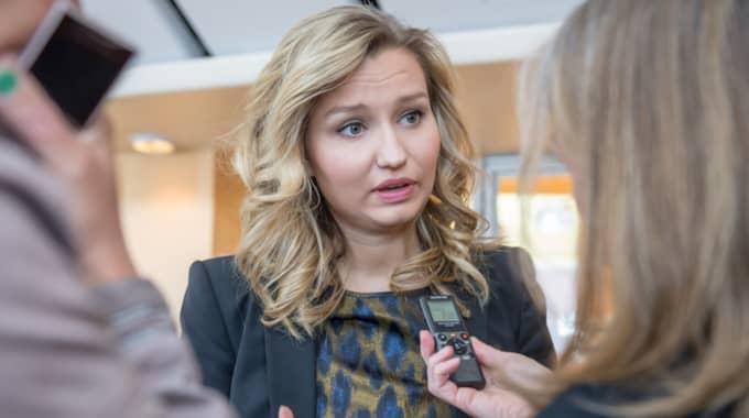 Kristdemokraternas partiledare Ebba Busch-Thor. Foto: Pelle T Nilsson