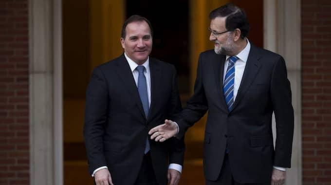 Statsminister Stefan Löfven träffade Spaniens premiärminister Mariano Rajoy. Foto: Daniel Ochoa De Olza
