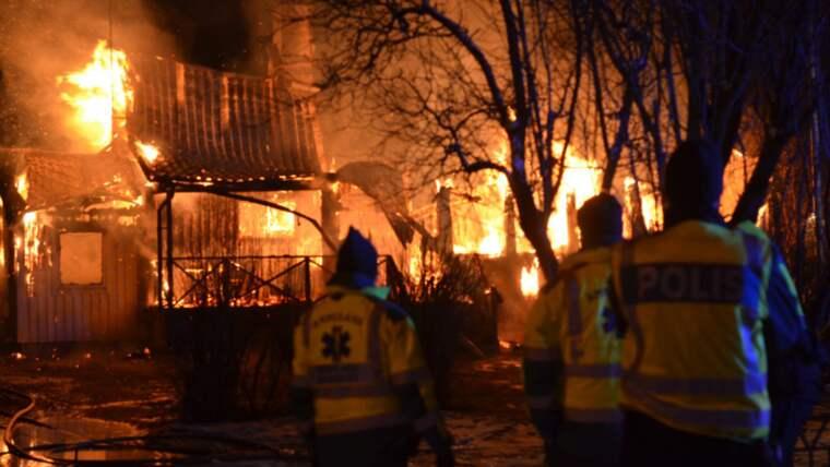 Brandorsaken är ännu oklar Foto: Göran Johansson/Sydostnyheter