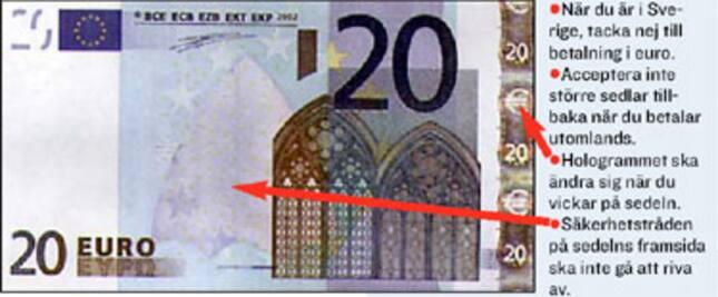 Falska sedlar forex