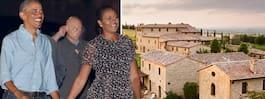 Paret Obama på lyxsemester i Italien