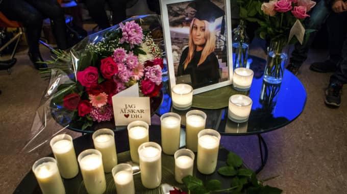 Under onsdagen hölls en minnesstund för Alexandra Mezher i Borås. Foto: Henrik Jansson