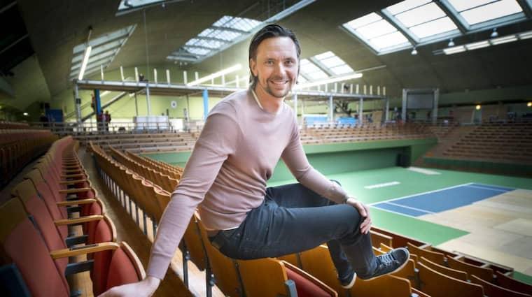 """I NY ROLL. Robin Söderling är turneringsdirektör för Stockholm Open som inleds på lördag. """"Jag ville inte bara ligga och vänta på att bli frisk längre"""", säger han om varför han tackade ja till jobbet. Foto: TOMMY PEDERSEN Foto: Tommy Pedersen"""