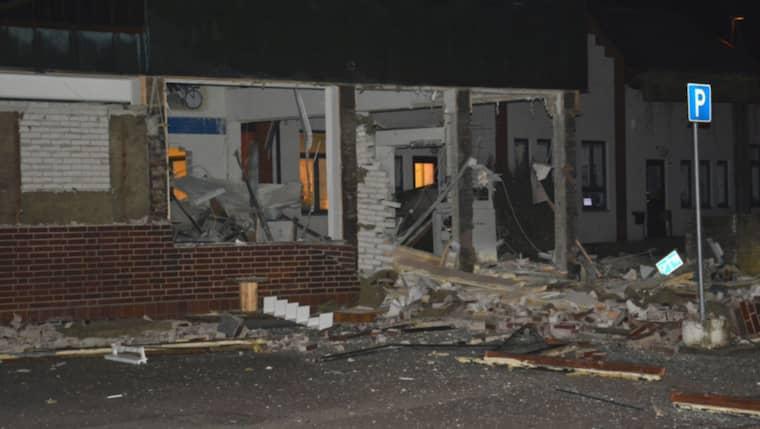 Fastigheten förstördes helt i explosionen Foto: Mikael Nilsson