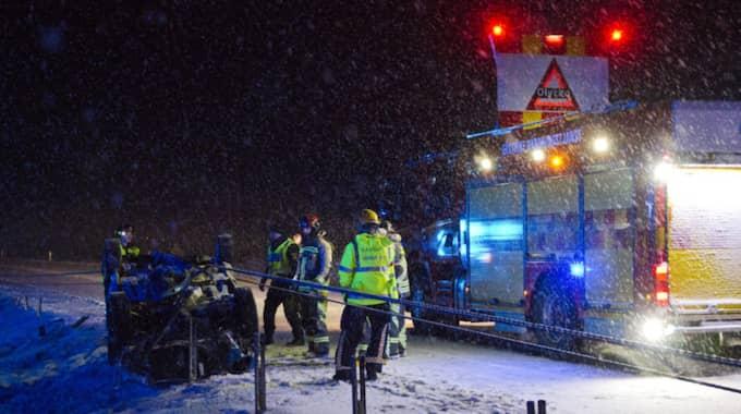 En olycka inträffade på E16. Foto: Andreas Björklund