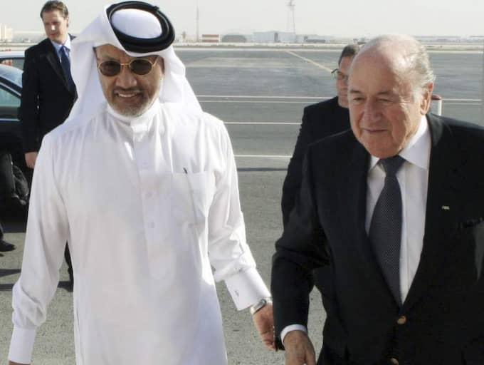 Mohamed Bin Hammam och Sepp Blatter.