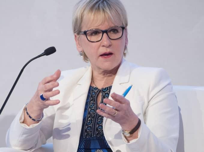"""När Expressen möter utrikesministern i Dubai står hon fast vid att Kommunal ljuger: """"Jag har vittnen till exakt vad som sades"""". Foto: Sven Lindwall"""