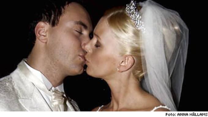 Hannah Graaf gjorde som sin syster: Sa ja igen.(Bilden togs när Hannah Graaf gifte sig första gången med Daniel Boudal på Ekerö utanför Stockholm.)
