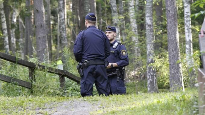 Jogginspåret där Ida hittades död. Foto: Johan Jeppsson