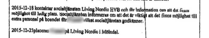 I socialtjänstens yttrande står det att HVB-hemmet bad om extra personal för att ta hand om den mordmisstänkte ynglingen - trots det arbetade Alexandra ensam då hon mördades.