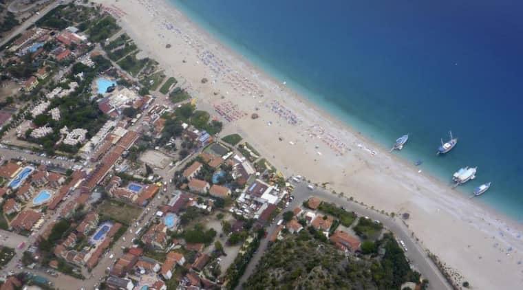 Jordbävningen skakade den lilla semesterorten Oludeniz.