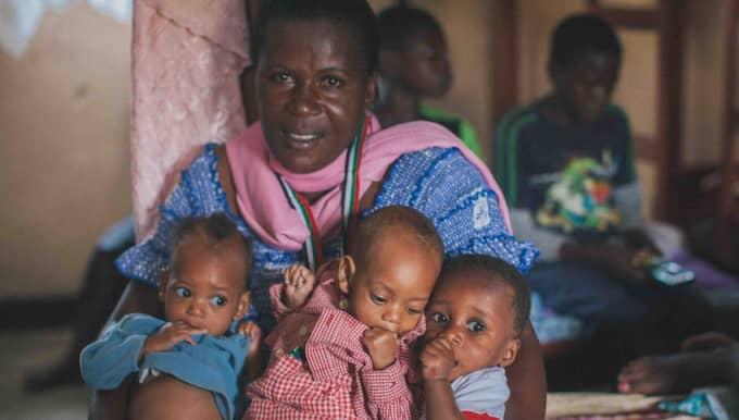 Mama Jeanne Banjere är chef över ett kvinnocenter och ett barnhem i Goma i östra Kongo där hon hjälper kvinnor drabbade av krigets våld. Foto: Emanuel Eddyson