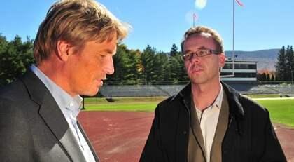 Här möter Expressens Mats Larsson Thomas Bodström i USA. Foto: Norman Y. Lono