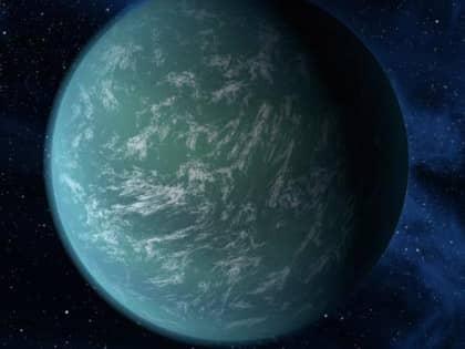 En skiss av hur Kepler 22b skulle kunna se ut. Foto: Nasa