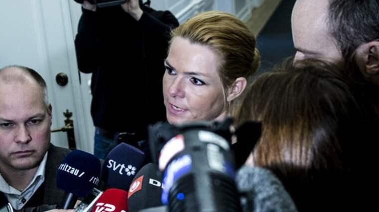 Inger Støjberg (Venstre), efter mötet med Sveriges justitie- och migrationsminister Morgan Johansson (S). Foto: Linda Johansen