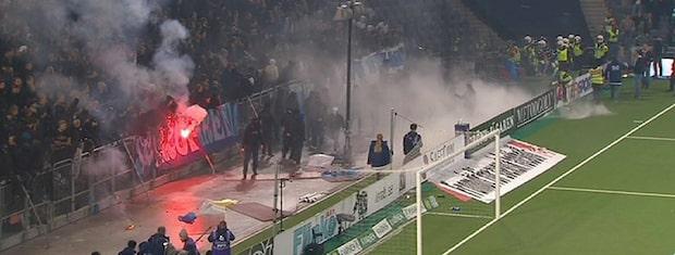 Här avbryts derbyt mellan Hammarby och Djurgården