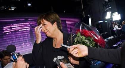 Mona Sahlin efter söndagens duell med Reinfeldt. Foto: Christian Örnberg