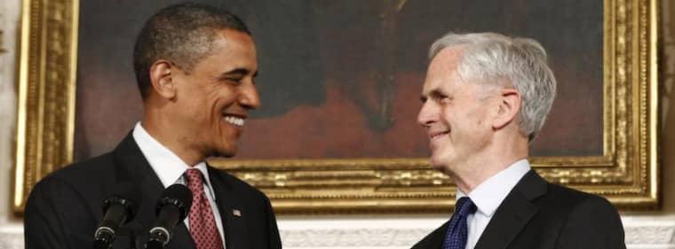 Barack Obama och handelsministern John Bryson. Foto: Reuters
