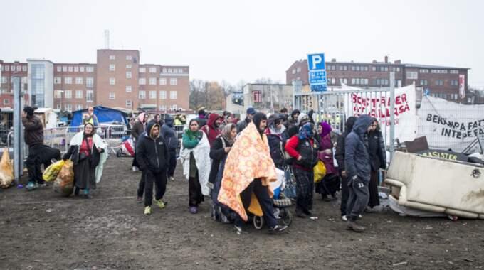 MALMÖ I HÖSTAS. Polisen tömde det romska lägret på Sorgenfri. De som bott där erbjöds inga nya boplatser. Foto: Tomas Leprince
