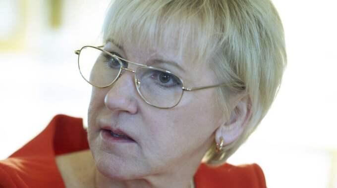 Stor förvirring i utrikesnämnden när utrikesminister Margot Wallström började prata om att skicka trupper till Malå. Foto: Janerik Henriksson/Tt