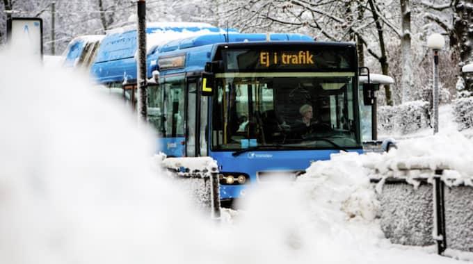 Snön slog till med full kraft i Göteborg. Foto: Henrik Jansson