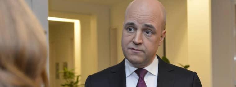 Fredrik Reinfeldt efter sändningen. Foto: Roger Vikström