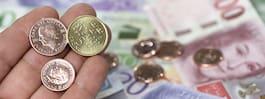 Hälften av mynten kom aldrig in till Riksbanken